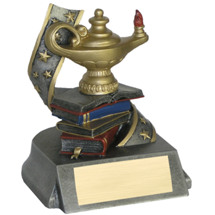 Lamp of Learning Resin Trophy - 4""