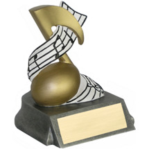 Music Note Resin Trophy - 4""