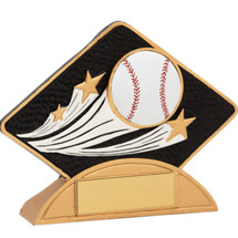 Resin Baseball Diamond-Shaped Award