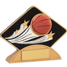 Resin Basketball Diamond-Shaped Award