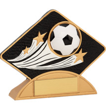 Resin Soccer Diamond-Shaped Award
