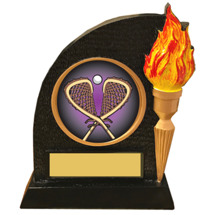 Lacrosse Trophy with Victory Torch and LX Emblem