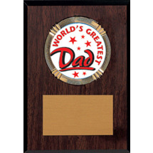 "5 x 7"" World's Greatest Dad Walnut-tone Plaque"