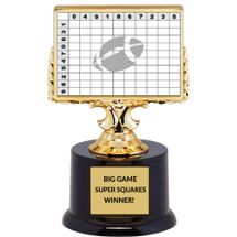 Big Game Super Squares Winner Trophy
