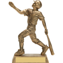 Gold Baseball Trophy - Male Gold-Tone Resin Trophy