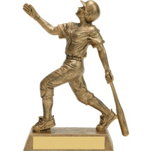Gold Softball Trophy - Female Gold-Tone Resin Trophy