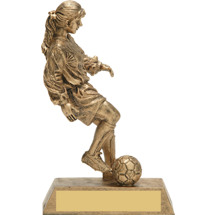 Gold Soccer Trophy - Female Gold-Tone Resin Trophy