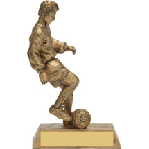 Gold Soccer Trophy - Male Gold-Tone Resin Trophy