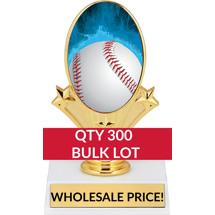 Buy in Bulk Baseball Trophy - Baseball Oval Trophy-Qty 300