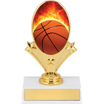 Basketball Trophy - Basketball Oval Riser Trophy