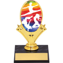 Dance Trophy - Dance Oval Riser Trophy - Black Base