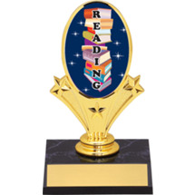 "Reading Oval Riser Trophy 5 3/4"" - Black Base"