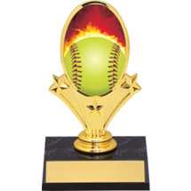 Softball Trophy - Softball Oval Riser Trophy - Black Base