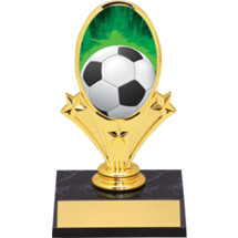 Soccer Trophies - Soccer Oval Riser Trophy - Black Base