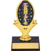 "Terrific Oval Riser Trophy - 5 3/4""  - Black Base"
