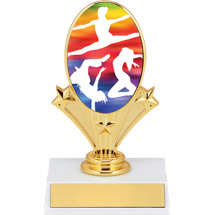 "Dance Trophy - 5 3/4"" Dance Oval Riser Trophy"