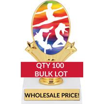 Buy in Bulk Dance Trophy - Dance Oval Trophy-Qty 100