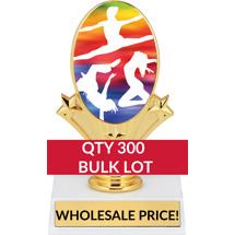 Buy in Bulk Dance Trophy - Dance Oval Trophy-Qty 300