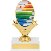 "5 3/4"" Education Oval Riser Trophy"