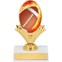 "5 3/4"" Football Oval Riser Trophy"