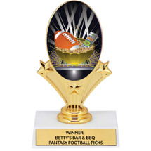 "5 3/4"" Fantasy Football Oval Riser Trophy"
