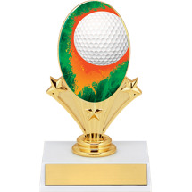 "5 3/4"" Golf Oval Riser Trophy"