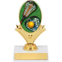 """Lacrosse Trophy - 5 3/4"""" Lacrosse Oval Riser Trophy"""