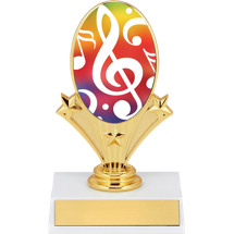 "5 3/4"" Music Oval Riser Trophy"