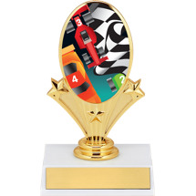 Derby Trophies -  Pinewood Derby Emblem Trophy