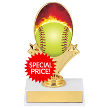 "Softball Trophy - 5 3/4"" Softball Oval Riser Trophy"