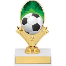 Soccer Trophies - Soccer Oval Riser Trophy