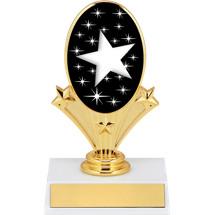 "5 3/4"" Star Oval Riser Trophy"