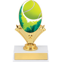 "5 3/4"" Tennis Oval Riser Trophy"