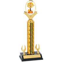 "12-14"" Holographic Fall Festival Trophy - 2 Eagle Base"