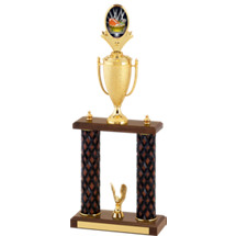 "18-20"" Fantasy Football Diamond Cut Trophy with Double Columns"
