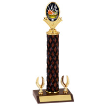 "12-14"" Fantasy Football Diamond Cut Trophy with 2 Eagle Base"