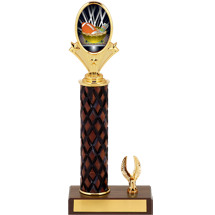 "11-13"" Fantasy Football Diamond Cut Trophy with 1 Eagle Base"