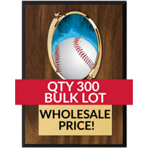 Buy in Bulk Baseball Plaque - Oval Emblem Plaque - Qty of 300