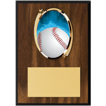 Baseball Plaque - Baseball Plaque with Baseball Emblem