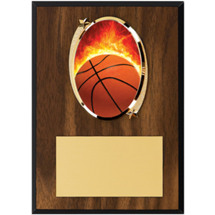 Basketball Plaque - Oval Emblem Plaque