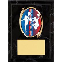 """Cheer Plaque - 5 x 7"""" Oval Emblem Black Plaque"""