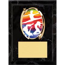 """Dance Plaque - 5 x 7"""" Oval Emblem Black Plaque"""