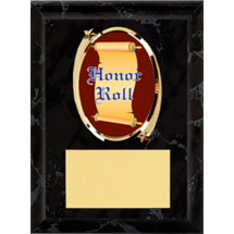 "Honor Roll Plaque - 5 x 7"" Oval Emblem Black Plaque"