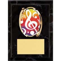 """Music Plaque - 5 x 7"""" Oval Emblem Black Plaque"""