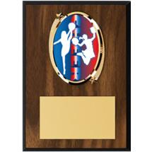 """Cheer Plaque - 5 x 7"""" Oval Emblem Plaque"""