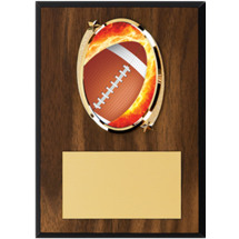 Football Plaque - Oval Emblem Football Plaque