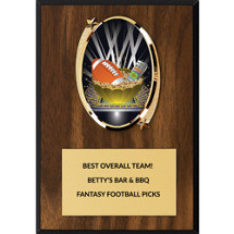 Fantasy Football Plaque - Oval Emblem Fantasy Football Plaque