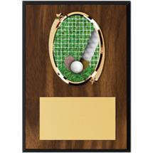 "Field Hockey Plaque - 5 x 7"" Oval Emblem Plaque"