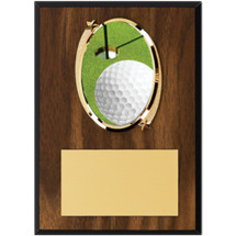 "Golf Plaque - 5 x 7"" Oval Emblem Plaque"