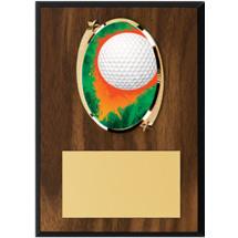 "Golf Plaque - 5 x 7"" Oval Emblem Plaque"